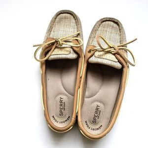 Sperry Boat Shoes Cream Size 7M